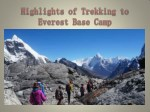 Highlights of Trekking to Everest Base Camp