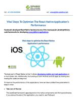 Vital Steps To Optimize The React Native Application's Performance