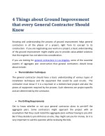4 Things about Ground Improvement that every General Contractor Should Know
