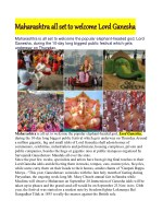 Maharashtra all set to welcome Lord Ganesha