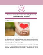 Surrogacy Cost in Chennai | Srushti Fertility Centre and Womens Hospital| ElaWoman