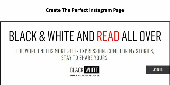 create the perfect instagram page n.