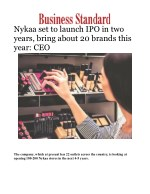 Nykaa set to launch IPO in two years, bring about 20 brands this year: CEO
