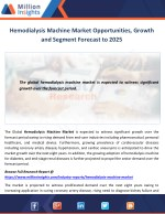 Hemodialysis Machine Market Opportunities, Growth and Segment Forecast to 2025