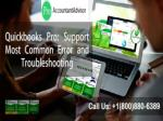 QuickBooks Pro Support for Most Common Error and Troubleshooting