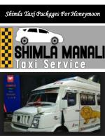 Shimla Taxi Packages For Honeymoon