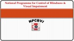 National Programme for Control of Blindness & Visual Impairment