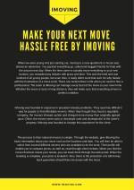 Make Your Next Move Hassle Free By iMoving