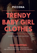 Buy Trendy baby girl clothes - Piccona