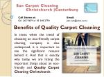 Benefits of Quality Carpet Cleaning