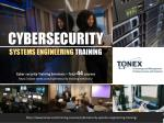Cybersecurity Systems Engineering Training : Tonex Training