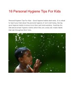 16 Personal Hygiene Tips For Kids | Allaboutkiids