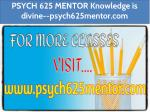 PSYCH 625 MENTOR Knowledge is divine--psych625mentor.com