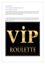 Vip Roulette System