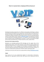 What To Consider Before Adopting VOIP into Business?
