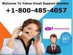 Yahoo Customer Support 18004854057 Yahoo Service Phone Number