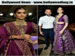 SONAM KAPOOR IS A BLUSHING BRIDE ON THE RAMP, HUSBAND ANAND AHUJA CAN'T LET GO OF HER DUPATTA