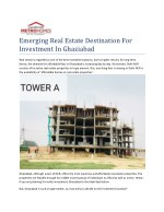 Emerging Real Estate Destination For Investment In Ghaziabad