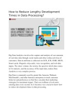 Data Processing Services - Role of Data Processing