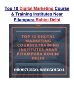 Top 10 Digital Marketing Course & Training Institute Near Pitampura Rohini Delhi