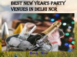 Best New Year's Party Venues in Delhi NCR