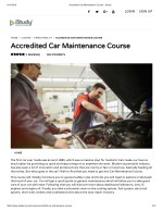 Accredited Car Maintenance Course - istudy