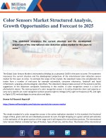 Color Sensors Market Structured Analysis, Growth Opportunities and Forecast to 2025