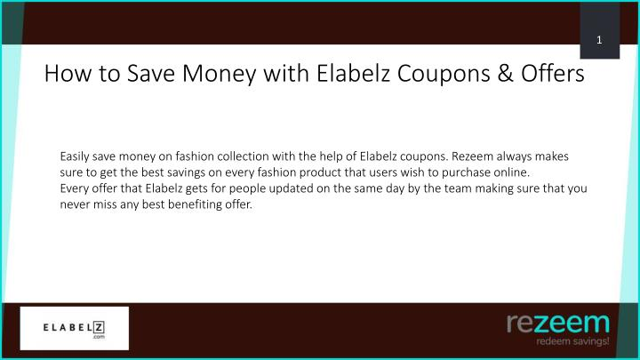 PPT - How to Use Elabelz Coupon, Offers PowerPoint