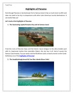 Highlights of Panama by TropiQTrips