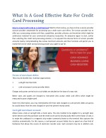 What Is A Good Effective Rate For Credit Card Processing