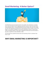 Email Marketing- A Better Option?
