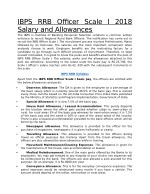 IBPS RRB officer scale 1 2018 salary and allowances