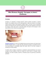 Mira Womens Hospital | Surrogacy in Anand | ElaWoman