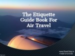 The Etiquette Guide Book For Air Travel