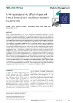 Anti-hyperglycemic effect of gasca d herbal formulation on alloxan induced diabetic rats