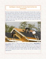 Roof Repair In Houston Tx: An Easy Task From Res Com Construction