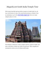 Magnificent South India Temple Tour