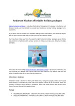 Andaman Nicobar affordable holiday packages