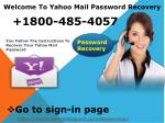 1800-485-4057 Yahoo Mail Change Password Support Number