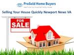 Selling Your House Quickly Newport News VA