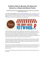 CJ Warren Salon & Spa joins The Shop Local Network as a Shop Local Mission Partner