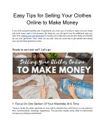 Easy Tips for Selling Your Clothes Online to Make Money