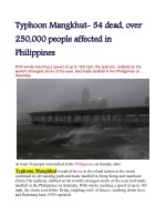 Typhoon Mangkhut: 54 dead, over 250,000 people affected in Philippines
