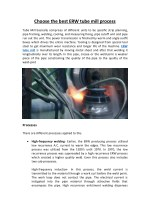 Choose the best ERW tube mill process