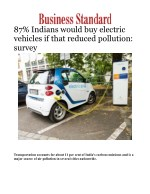87% Indians would buy electric vehicles if that reduced pollution: survey