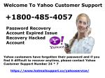 Yahoo Support Phone Number 1800-485-4057 Yahoo Service