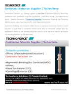Continuous Extractor Supplier   Technoforce
