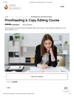 Proofreading & Copy Editing Course - John Academy