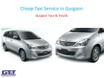 Cheap Taxi Service in Gurgaon