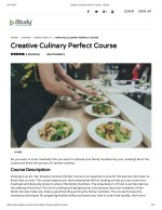Creative Culinary Perfect Course - istudy